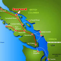 Vancouver Island Map To Sayward Resort